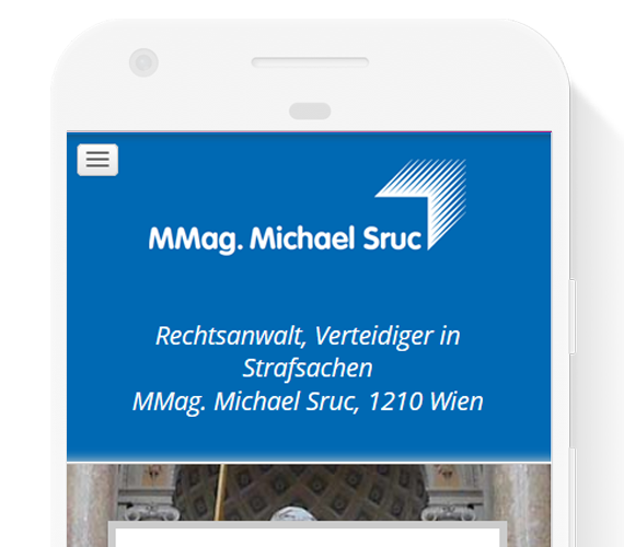 Responsive Webdesign Screenshot von www.rechtsanwalt-sruc.at
